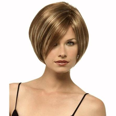Golden brown short hairstyles & Hair highlights