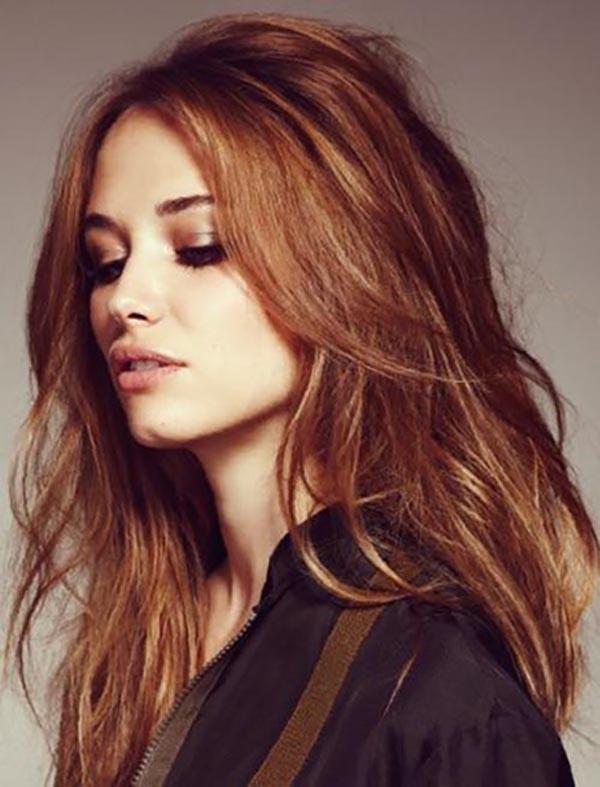 Natural long hairstyles for fall