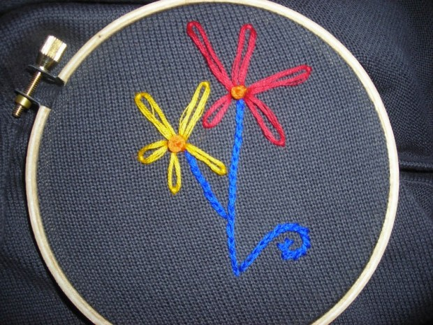 Sew and So: Embroidery Adventures | Red-Handled Scissors