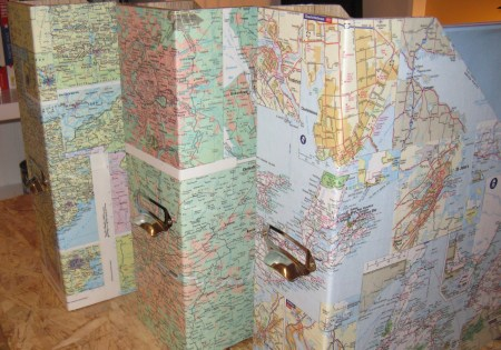 Friday Internet Crushes: Map Crafts | Red-Handled Scissors