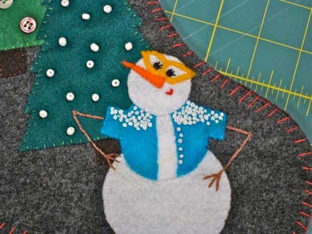 Snowman Stocking Mini-Me   Red-Handled Scissors