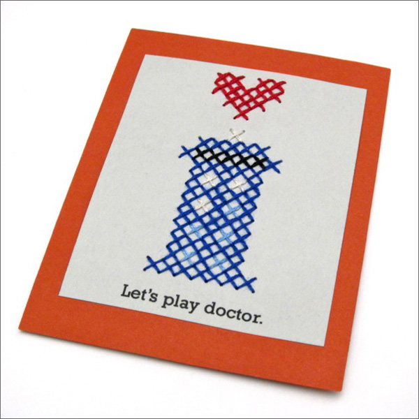 Pattern: TARDIS Cross-Stitch Valentine | Red-Handled Scissors