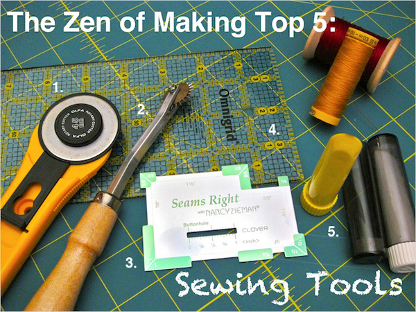 TZoM Top 5: Must-Have Sewing Tools | Red-Handled Scissors