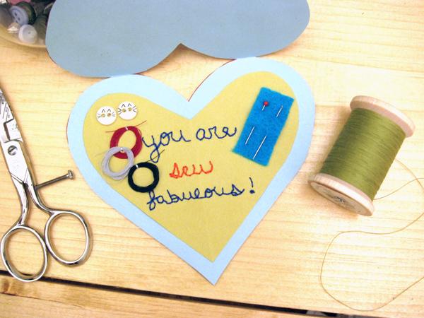 Tutorial: Sewing Kit Valentine Card | Red-Handled Scissors