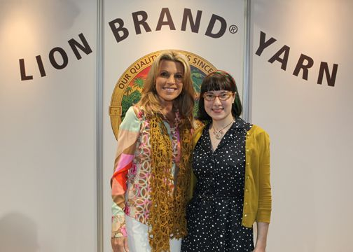 Sunday Snapshot: Haley and Vanna White at the Lion Brand Yarn Fashion Show | Red-Handled Scissors