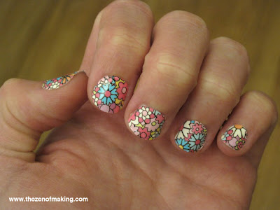 Cheater Craft: Nail Art with Polish Strips | Red-Handled Scissors