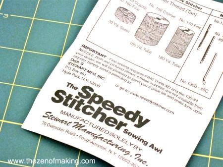 Craft Tool: Speedy Stitcher Sewing Awl | Red-Handled Scissors