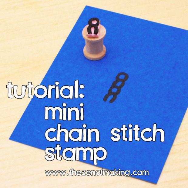 Tutorial: Mini Chain Stitch Stamp | Red-Handled Scissors