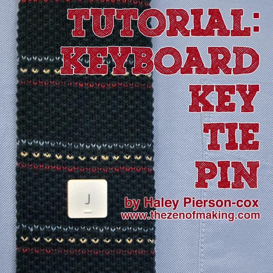 Tutorial: Keyboard Key Tie Tack or Lapel Pin | Red-Handled Scissors