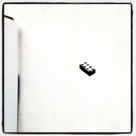 Sunday Snapshot: LEGO Graffiti   Red-Handled Scissors