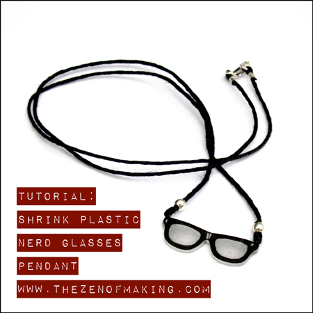 Tutorial: Shrink Plastic Nerd Glasses Pendant | Red-Handled Scissors