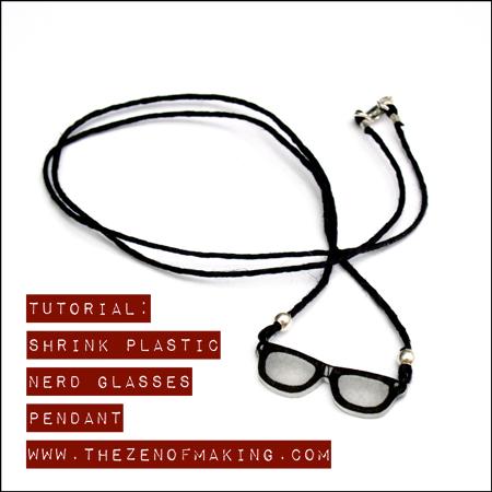 Tutorial: Shrink Plastic Nerd Glasses Pendant | Red-Handled Scissors
