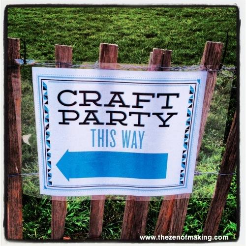Sunday Snapshot: Etsy Craft Party 2012 | Red-Handled Scissors