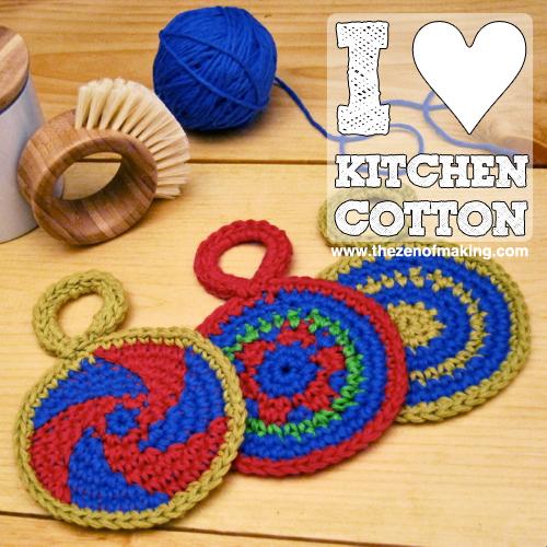 I Love Kitchen Cotton Yarn! | Red-Handled Scissors