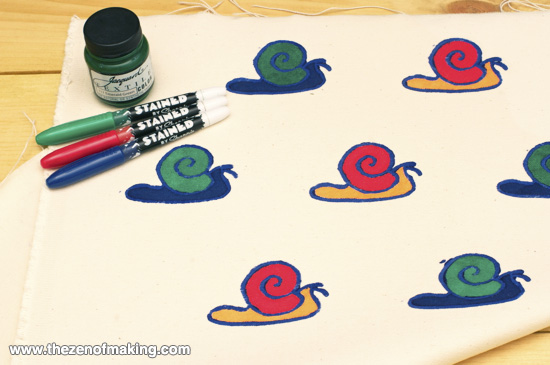 Tutorial: Quick and Easy Fabric Printing | Red-Handled Scissors