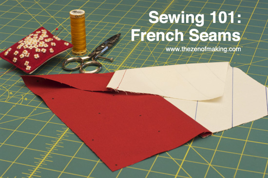 Sewing 101: French Seams Tutorial for CRAFT | Red-Handled Scissors