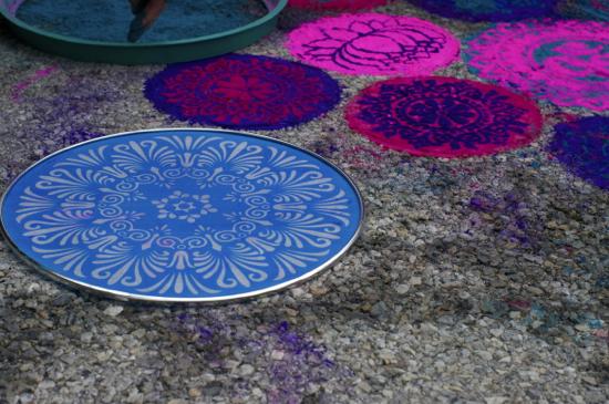 Sunday Snapshot: Rangoli Sidewalk Art at Maker Faire New York | Red-Handled Scissors