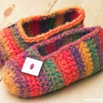 Crochet Pattern: Rainbow Striped Slippers | Red-Handled Scissors