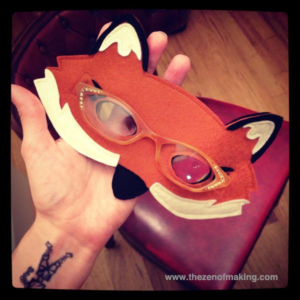 Sunday Snapshot: Mr. and Mrs. Fox Masks | Red-Handled Scissors