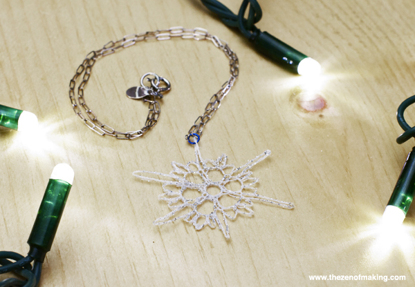 Tutorial: Mini Crocheted Snowflake Necklace   Red-Handled Scissors