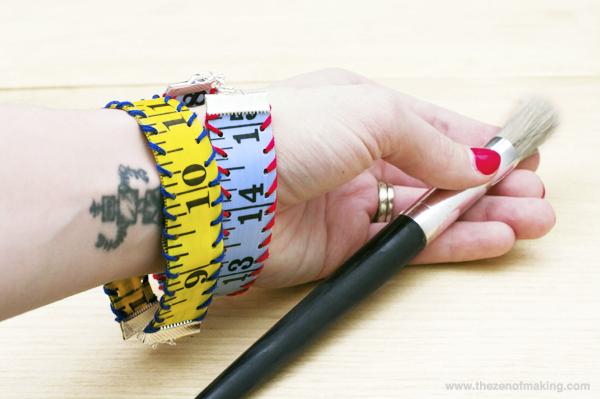 Tutorial: Measuring Tape Bracelet | Red-Handled Scissors
