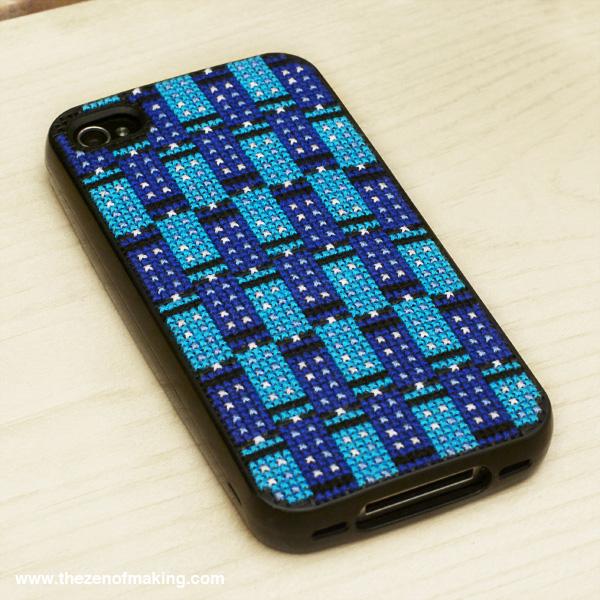 Tessellating TARDIS iPhone Case Cross-Stitch Pattern   Red-Handled Scissors