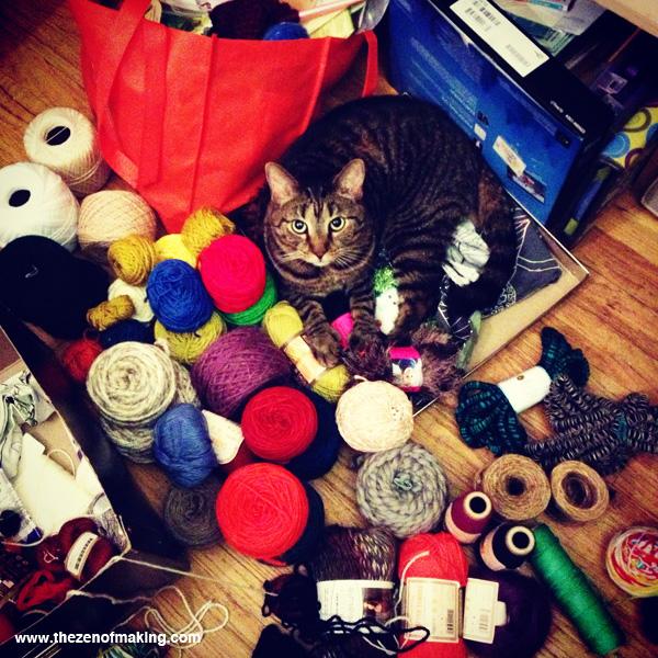 Sunday Snapshot: Pixel the Yarn Cat | Red-Handled Scissors