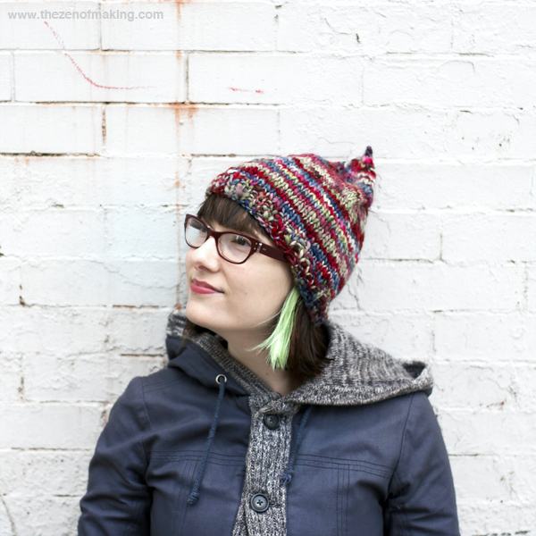 Knitting Pattern: Easy Grownup Pixie Hat | Red-Handled Scissors