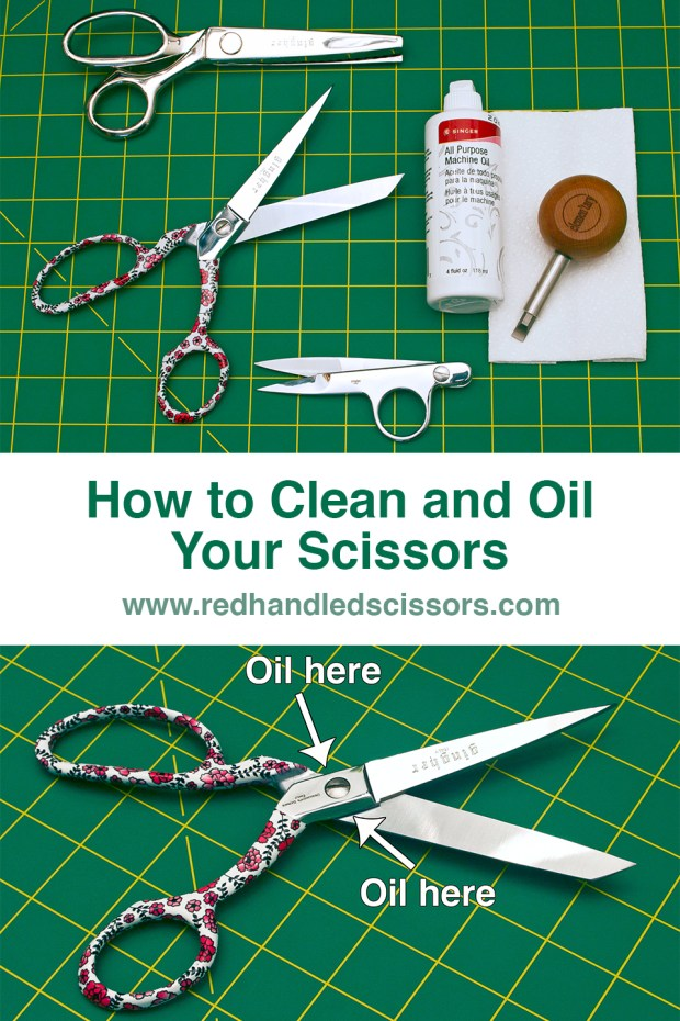 Crafting 101: How to Clean and Oil Your Scissors: How long has it been since you've cleaned and oiled your scissors? (Hint: If you can't remember, it's been way too long!)