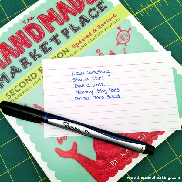 Sunday Snapshot: Today's To-Do | Red-Handled Scissors