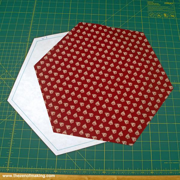 Tutorial: Giant Hexie Flower Lap Quilt - 12 Hexies (or Less) Blog Hop | Red-Handled Scissors