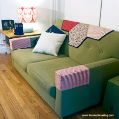 Cat Sofa Arm Covers Reclining Loveseat Bed Tutorial: Simple Fabric Armrest