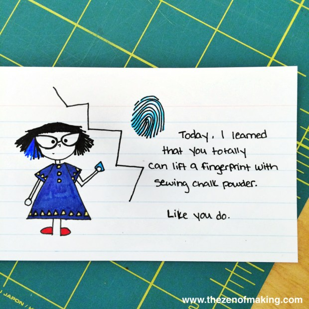 Sunday Snapshot: Crafty Forensics with Tailor's Chalk | Red-Handled Scissors