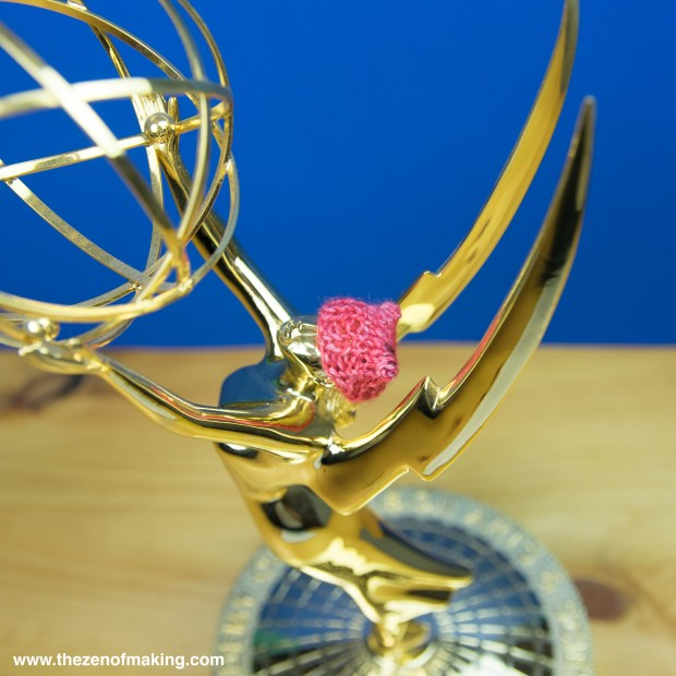 Monday Snapshot: Yes, That's an Emmy Wearing a Pussyhat!
