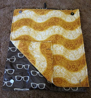 Super-Secret Sewing Project Revealed: Portable Baby Changing Pad | Red-Handled Scissors
