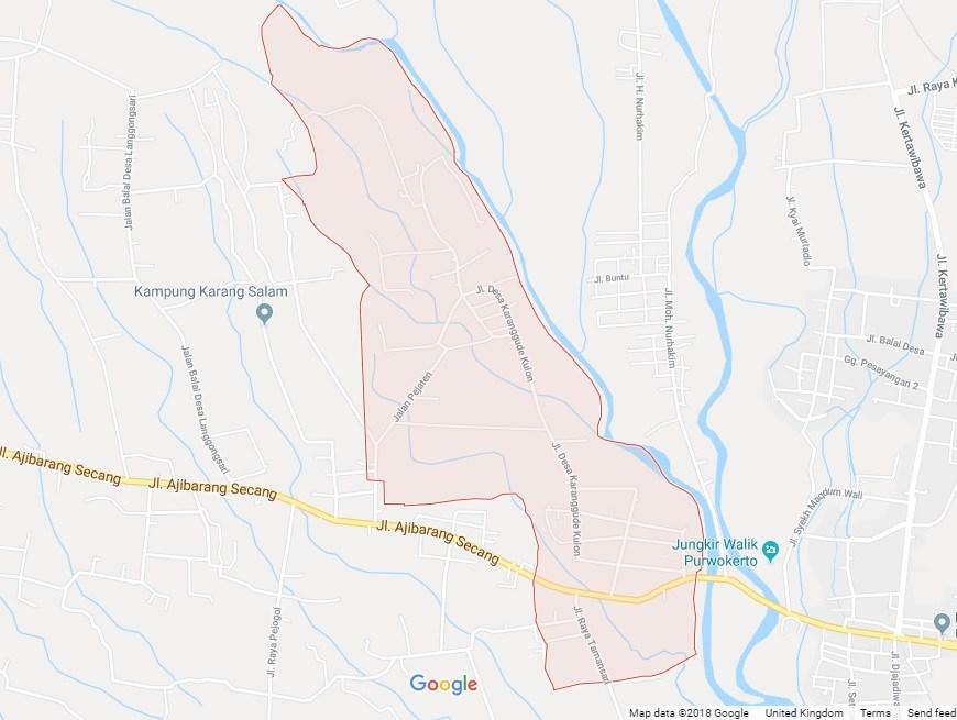desa karanggude kulon kecamatan karanglewas kabupaten banyumas