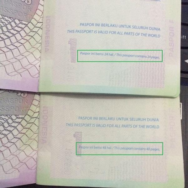 Perbedaan Paspor 24 halaman dan 48 halaman