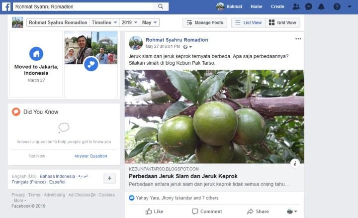 Promosi dan image building melalui facebook