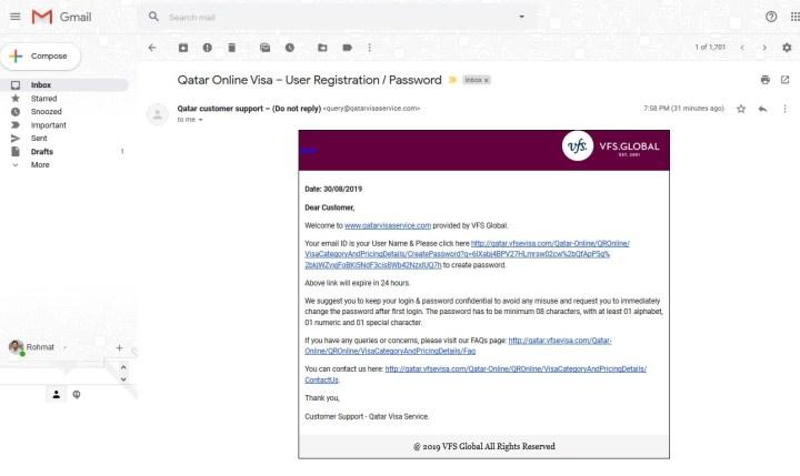 Verifikasi lewat email