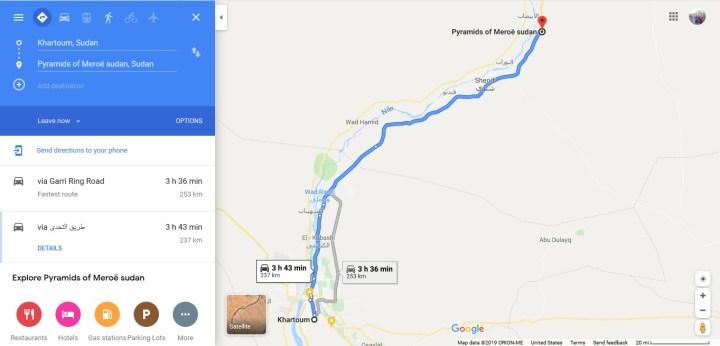 gambar-rute-perjalanan-ke-piramida-di-sudan-dari-kota-khartoum