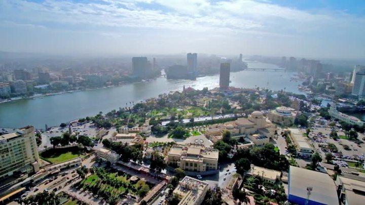 Gezira Island di tengah Sungai Nil