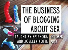 Graphic for The Business of Blogging About Sex class