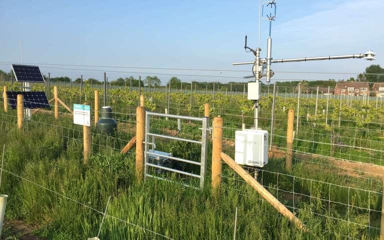 Cosmic-ray soil moisture monitoring network