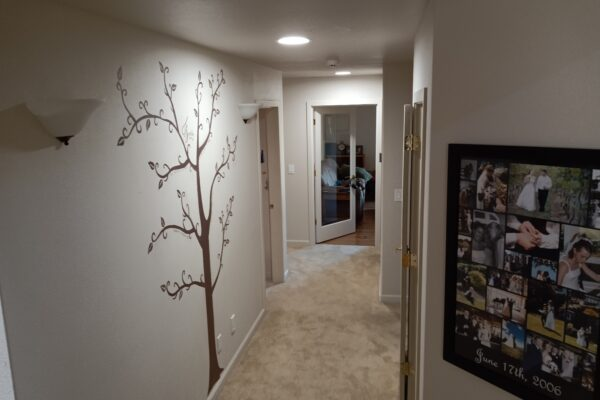 Hallway with tree painting