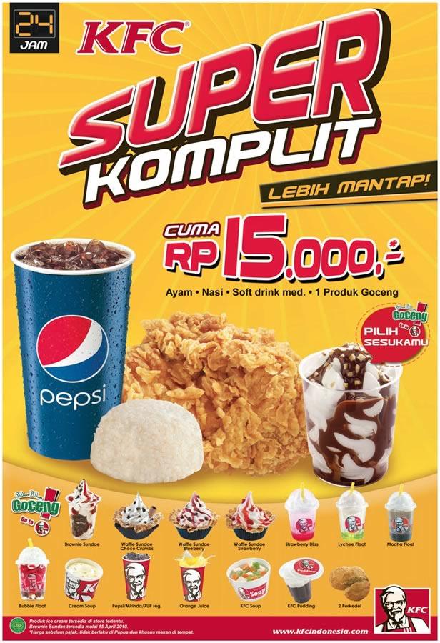 Kfc Super Komplit Rp 15 000 Redirectline