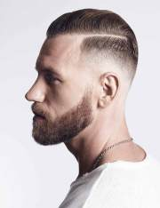 hard part men's hairstyle & comb
