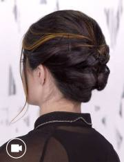 short updo hair style occasion