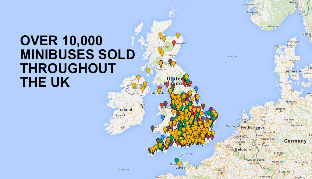 Red Kite Sales Map