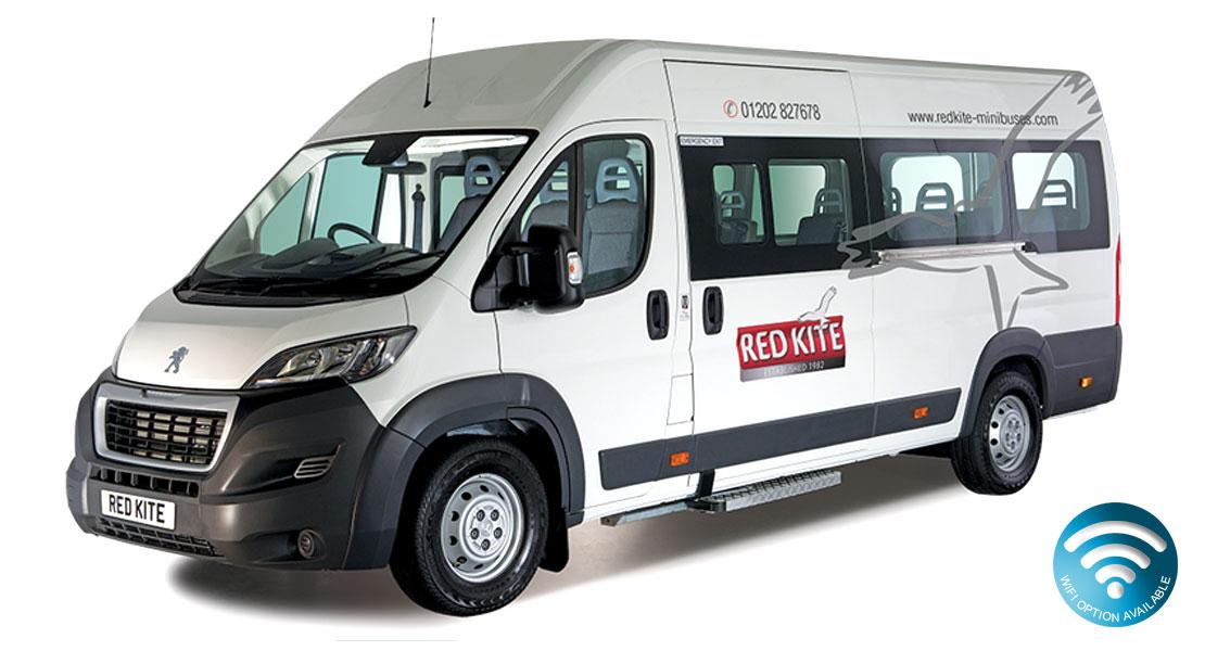 Peugeot Boxer 17 Seat Minibus from Red Kite Minibuses 2016 Ex Demo Minibus