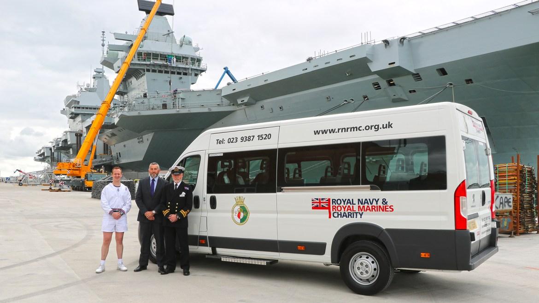 Red Kite deliver to HMS Queen Elizabeth